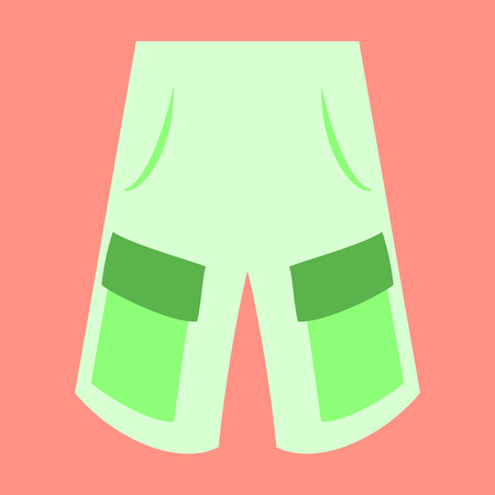 Icon in flat design fashion clothes shorts