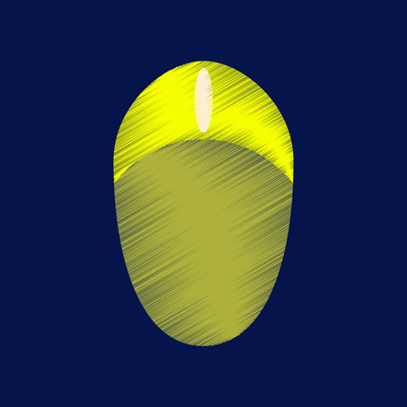 flat shading style icon computer mouse button