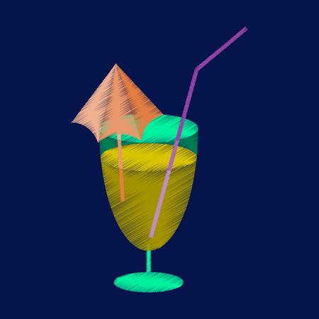 boisson alcoolisée cocktail icône style ombrage plat
