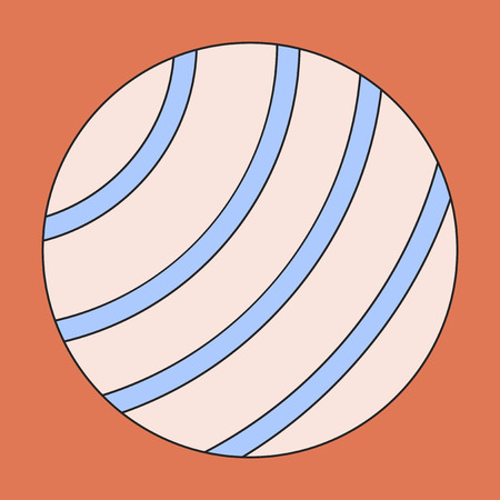 Icon in flat design Fitball Illustration