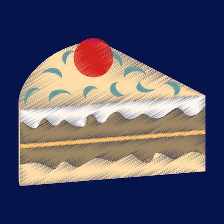 flat shading style icon Berry cake