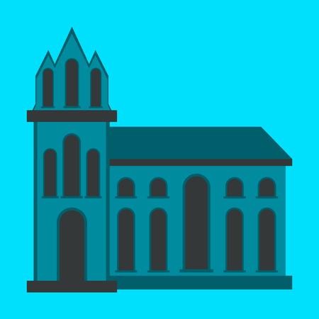 City travel landmark. icon with flat design elements. Modern linear style illustrations isolated . Illustration