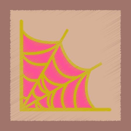 flat shading style icon of spider web Иллюстрация