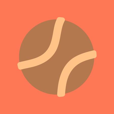 flat icon on stylish background dog toy ball