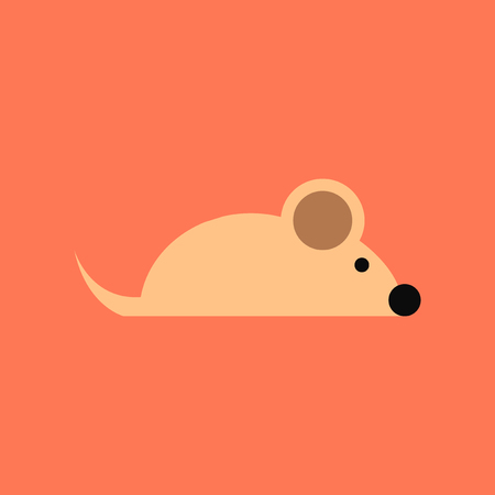 flat icon on stylish background pet mouse  イラスト・ベクター素材