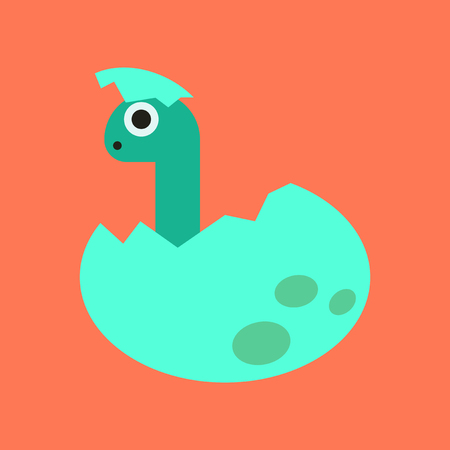 flat icon on stylish background cartoon dinosaur egg