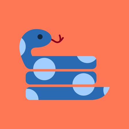 flat icon on stylish background reptile snake