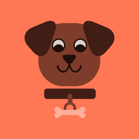 flat icon on stylish background pet dog