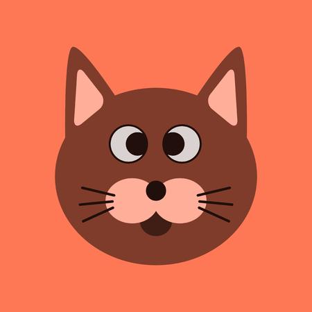 flat icon on stylish background pet cat