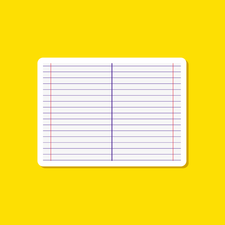 paper sticker on stylish background of school notebook