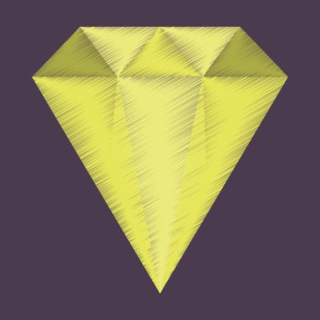 flat shading style icon diamond expensive jewelery Reklamní fotografie - 111923570