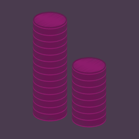 flat shading style icon Stacks of coins