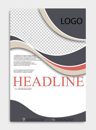 Abstract flyer design background. Brochure template. Illustration