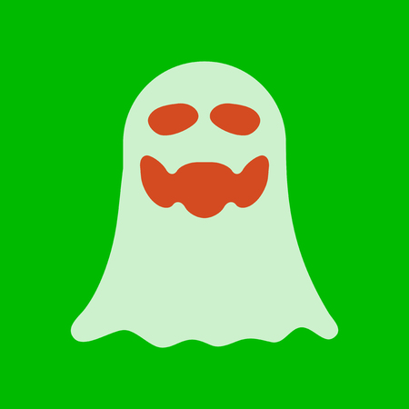 flat icon on stylish background Halloween ghost