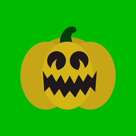 flat icon on stylish background halloween pumpkin Векторная Иллюстрация