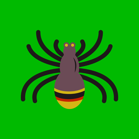 flat icon on stylish background halloween spider