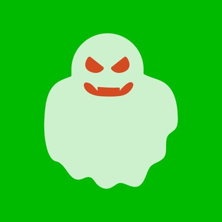 flat icon stylish background Halloween ghost