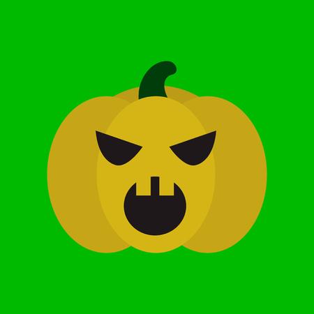 flat icon on stylish background halloween pumpkin