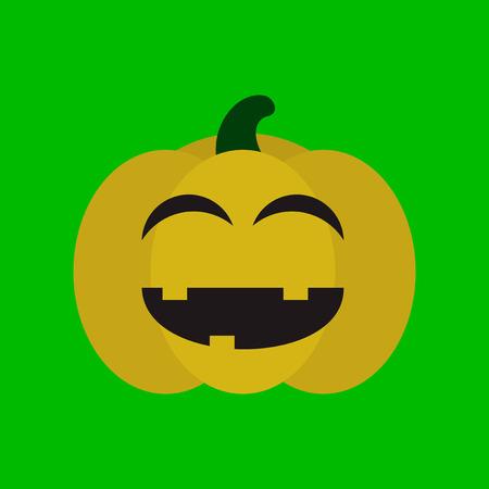 flat icon stylish background halloween pumpkin Фото со стока