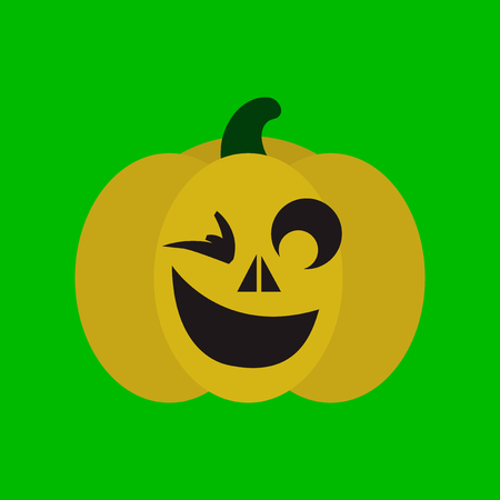 flat icon on stylish background halloween pumpkin