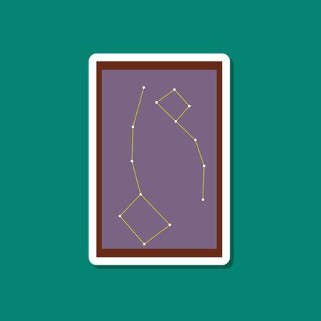 paper sticker on stylish background constellation Illustration