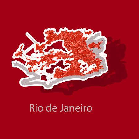 Modern Map - Rio de Janeiro sticker