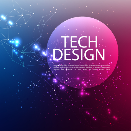 Abstract technology digital hi tech hexagons concept background. Space for your text Vecteurs