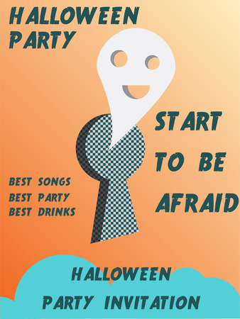 Halloween party invitation . halloween, party, scary, poster,
