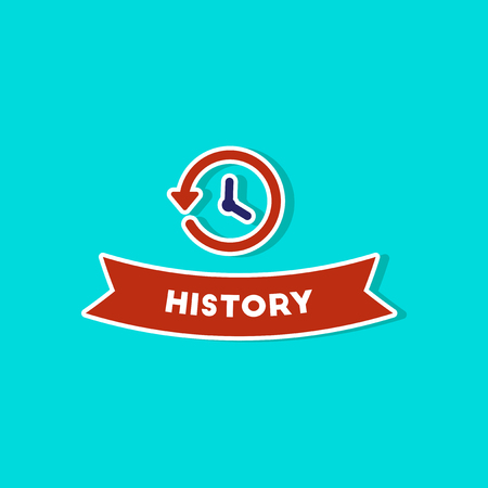 paper sticker on stylish background history lesson