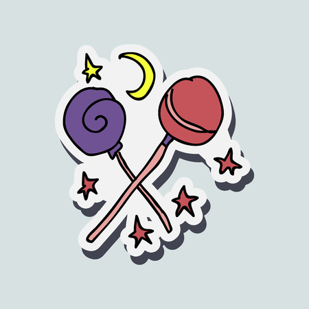 Lollipop Set, Vector Illustration