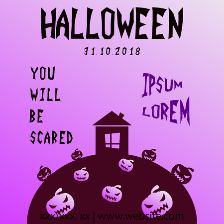 Halloween party invitation scary poster celebration illustration Imagens