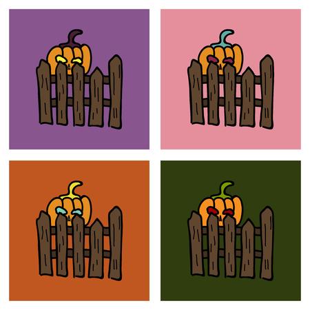 Pumpkin realistic halloween harvest thanksgiving holiday vegetable. food illustration, agriculture celebration design object. Illustration