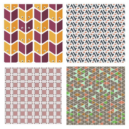 Abstract Creative concept vector multicolored background set. For Web and Mobile Applications, art illustration template design, business infographic and social media, modern decoration. 向量圖像
