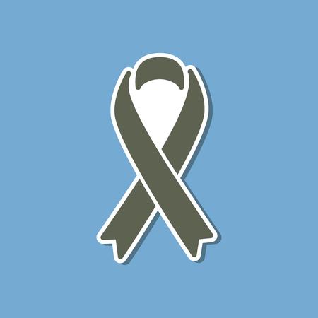 paper sticker on stylish background of gays HIV ribbon