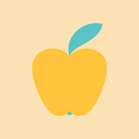 Apple Icon in trendy flat style isolated on background. Apple Icon page symbol for your web site design Apple Icon logo, app, UI.