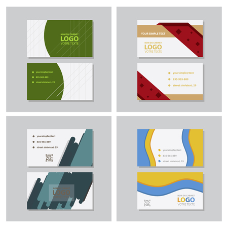 City Background Business Card Design Template. Can be adapt to Brochure, Annual Report, Magazine,Poster, Corporate Presentation, Portfolio, Flyer, Website Ilustração