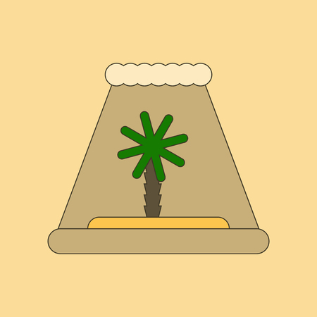 flat icon on stylish background tsunami Island