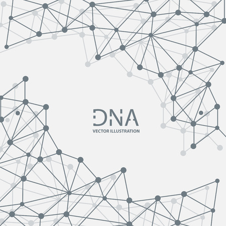 Abstract DNA strand symbol. Isolated on white background. Vector illustration, eps 8. Banco de Imagens - 124993990