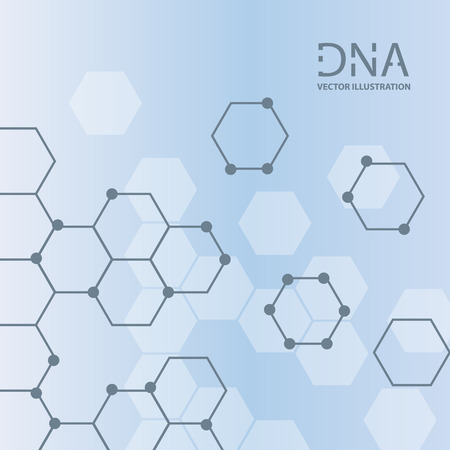 Abstract DNA strand symbol. Isolated on white background. Vector illustration, eps 8.