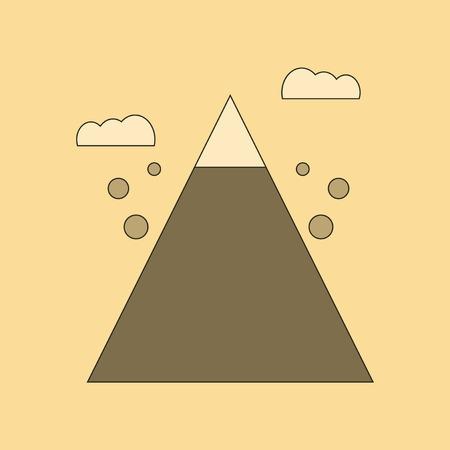 flat icon on stylish background Mountain stones fall