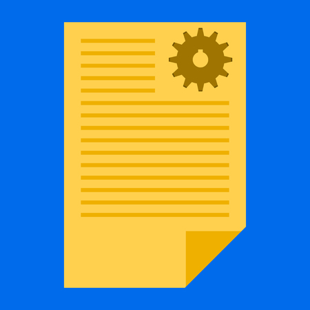 Document with text and circle. Add paper. Attach page.