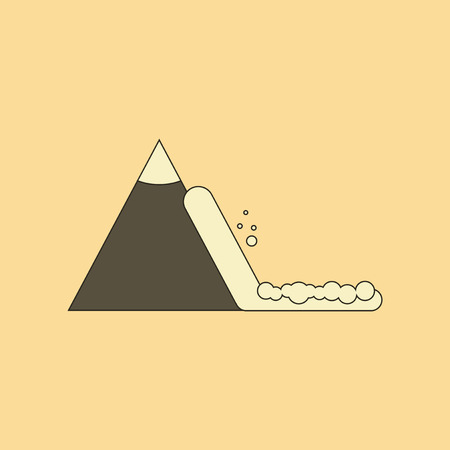flat icon on stylish background snow avalanche