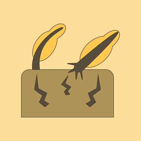 flat icon on stylish background natural disaster earthquake Illustration
