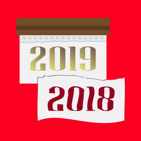 Calendar 2019. Colorful set. Basic grid Imagens - 124994085