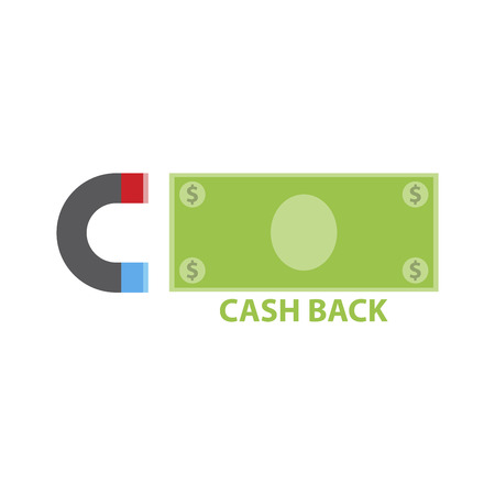 Cash back Sale banner template design, Big sale special offer. Vector illustration. Ilustracja