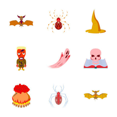 assembly of flat illustration halloween Ilustracja