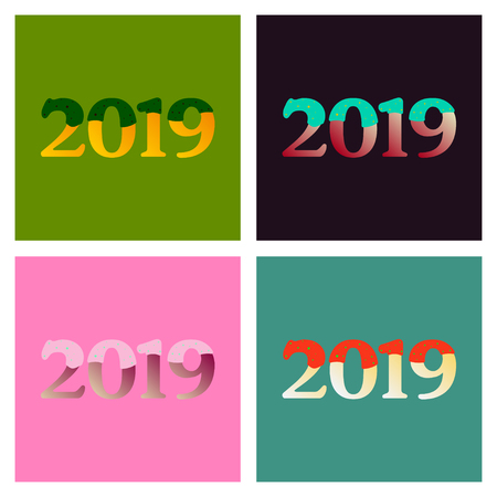 2019 Happy New Year Background for your Seasonal Flyers and Greetings Card or Christmas themed invitations Imagens - 124994155
