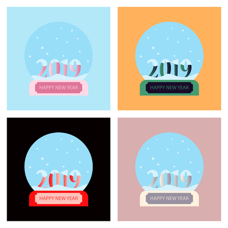 Snow globe isolated on transparent background. Christmas magic ball. Realistic Xmas snowglobe vector illustration. Winter in glass ball, crystal icon snowflake