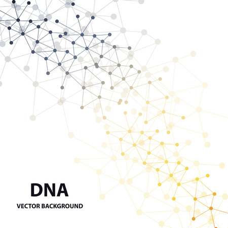 DNA sequence shiny vector background. Science. Vector.