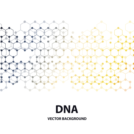 Set of business templates for brochure, flyer or booklet. DNA molecule structure on dark green background. Science vector background.